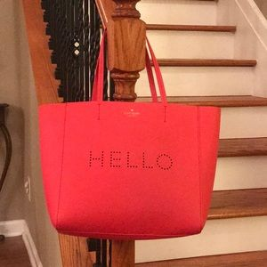 Sale! ♠️ Kate Spade Hallie Hello Leather Tote♠️